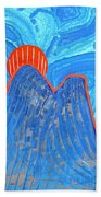 Os Dois Irmaos Original Painting Sold Beach Towel