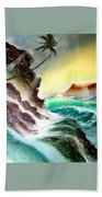 Othere Side Of Diamondhead Waikiki Hawaii Beach Towel