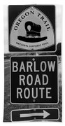 Barlow Road Cutoff Sign Beach Towel