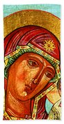 Our Lady Of Kazan Beach Towel