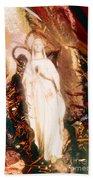 Our Lady Of Lourdes Beach Towel
