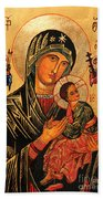 Our Lady Of Perpetual Help Icon II Beach Towel by Ryszard Sleczka