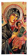 Our Lady Of Perpetual Help Icon Beach Towel