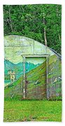 Our Lady Of The Way Quonset Hut Chapel In Haines Junction-yt Beach Towel