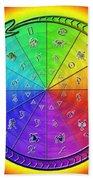 Ouroboros Alchemical Zodiac Beach Sheet by Derek Gedney