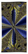 Out Of The Negative Into The Blue Flower Beach Towel