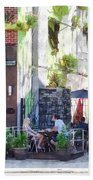Outdoor Cafe Philadelphia Pa Beach Towel
