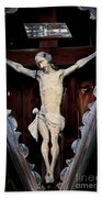 Outdoor Display Of The Crucifixion Of Christ Beach Towel