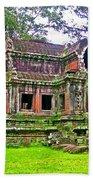 Outer Building Of Angkor Wat In Angkor Wat Archeological Park Near Siem Reap-cambodia  Beach Towel