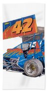 Dirt Track Racing Outlaw 42 Beach Towel