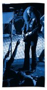 Outlaws #16 Art Blue Beach Towel