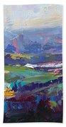 Overlook Abstract Landscape Beach Towel by Talya Johnson