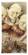 Over-pope-ulation - Cartoon Art Beach Towel