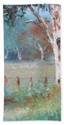 Over The Fence By Jan Matson Beach Towel