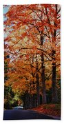 Over The Hill And Through The Trees Beach Towel