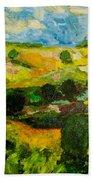 Over The Hills Beach Towel