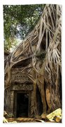 Overgrown Jungle Temple Tree  Beach Towel