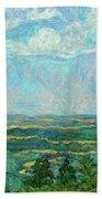 Overlook Near Peaks Of Otter Beach Towel