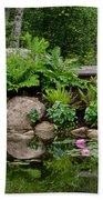 Overlooking The Lily Pond Beach Towel