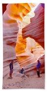 Overwhelmed In Lower Antelope Canyon-az Beach Towel