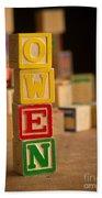 Owen - Alphabet Blocks Beach Towel