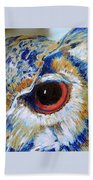 Owl Gaze Beach Towel
