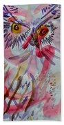 Owl In The Fresh Air Beach Towel