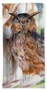 Owl Series - Owl 2 Beach Towel