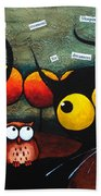 Owls In The Forest Beach Towel