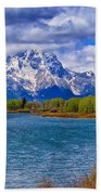 Oxbow Bend In Spring Beach Towel