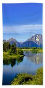 Oxbow Bend Beach Towel by Robert Bales