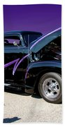 P P - Purple Pickup Beach Towel