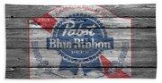 Pabst Blue Ribbon Beer Beach Towel