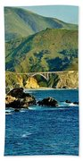 Pacific Coast Panorama Beach Towel by Benjamin Yeager