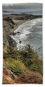 Pacific Coast Storm Clouds Beach Towel