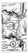 Pacific Grove And Vicinity  Monterey Peninsula California  Circa 1880 Beach Towel