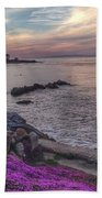 Sunset In Pacific Grove Beach Towel