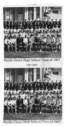 Pacific Grove California  High School  Class Of 1967 Beach Towel