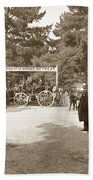 Pacific Grove Retreat Gate On Lighthouse At Grand Aves  With  O. J. Johnson Circa 1880 Beach Towel