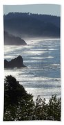 Pacific Mist Beach Towel by Karen Wiles