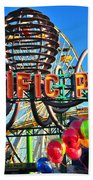 Pacific Park On The Pier Beach Towel