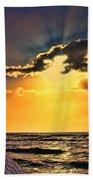 Pacific Sunset By Diana Sainz Beach Towel
