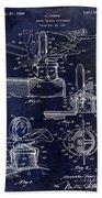 Packard Hood Ornament Blue Beach Towel