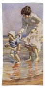 Paddling Beach Towel by William Kay Blacklock