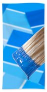 Paint Brush - Blue Beach Towel