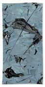 Paint Fossils Beach Towel