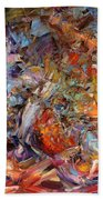 Paint Number 43a Beach Towel by James W Johnson