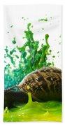 Paint Sculpture And Snail 4 Beach Towel