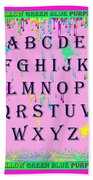 Paint Spattered Primary Learning Beach Towel