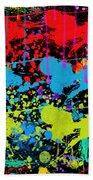 Paint Splatter - Black Beach Towel